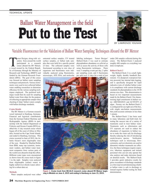 Maritime Reporter Magazine, page 24,  Nov 2015