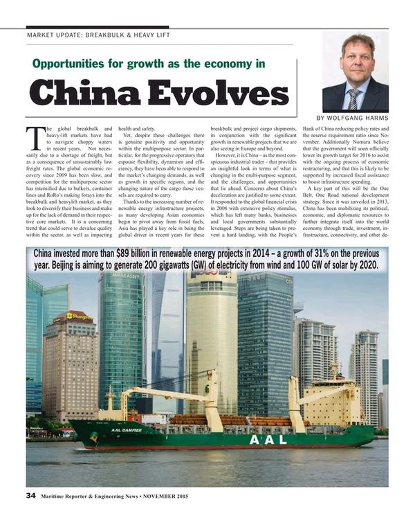 Maritime Reporter Magazine, page 34,  Nov 2015