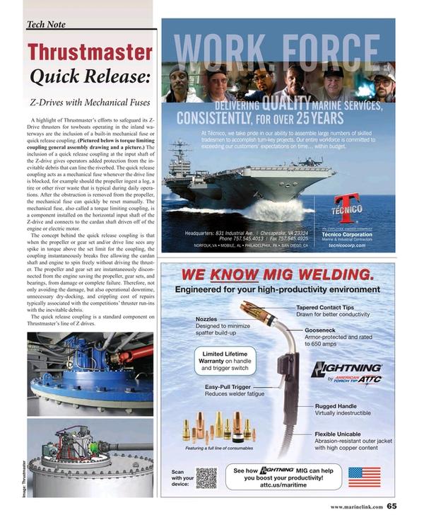 Maritime Reporter Magazine, page 65,  Nov 2015