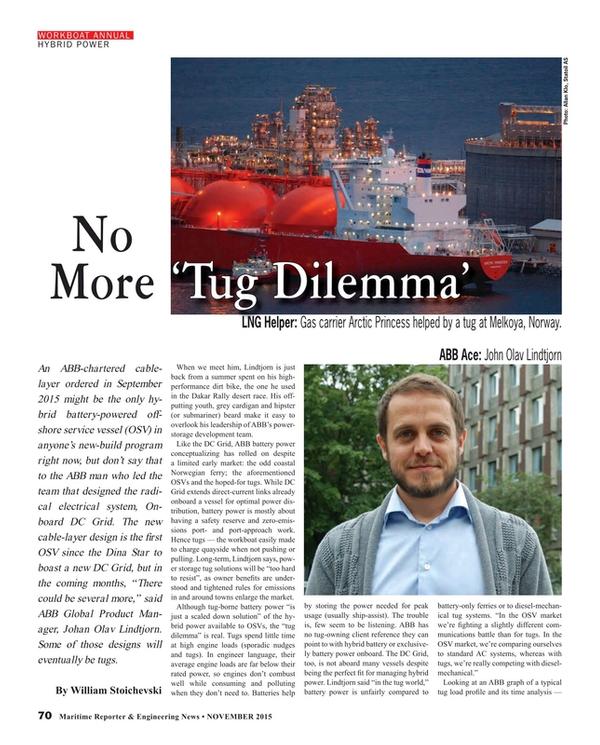 Maritime Reporter Magazine, page 70,  Nov 2015