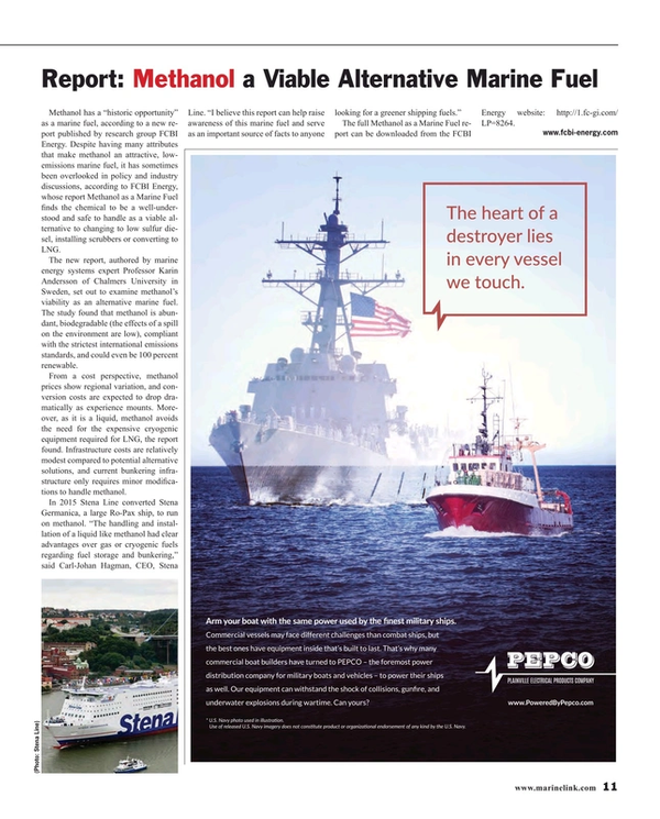 Maritime Reporter Magazine, page 11,  Jan 2016