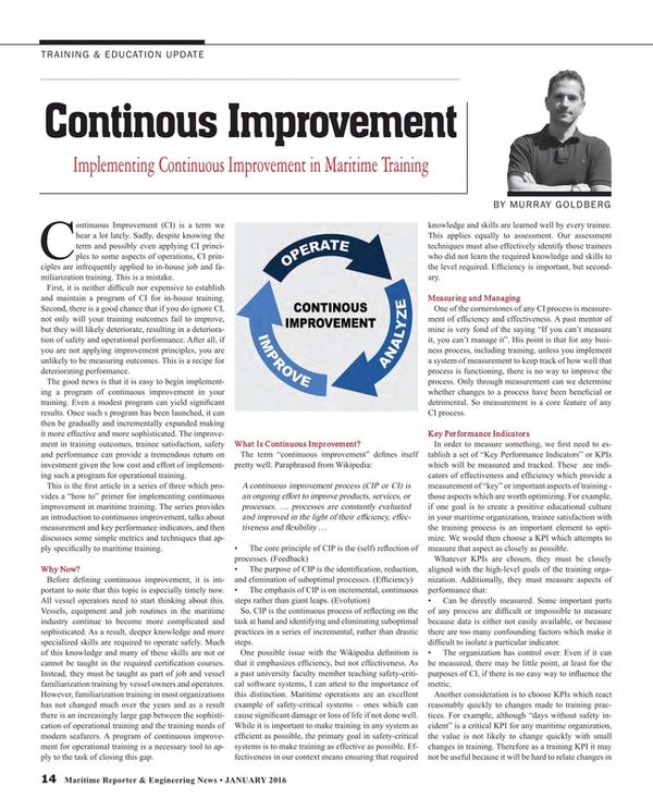 Maritime Reporter Magazine, page 14,  Jan 2016