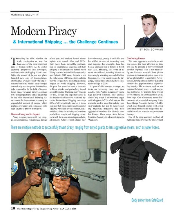 Maritime Reporter Magazine, page 18,  Jan 2016