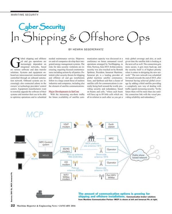 Maritime Reporter Magazine, page 22,  Jan 2016