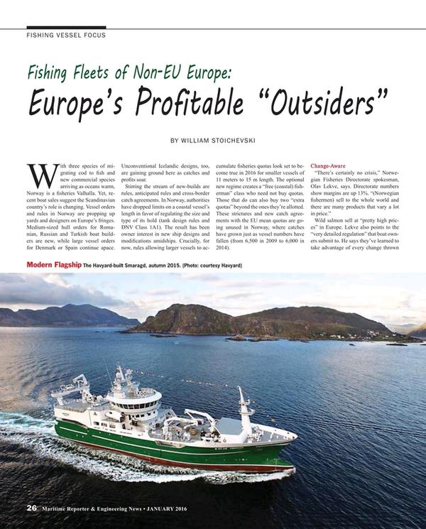 Maritime Reporter Magazine, page 26,  Jan 2016