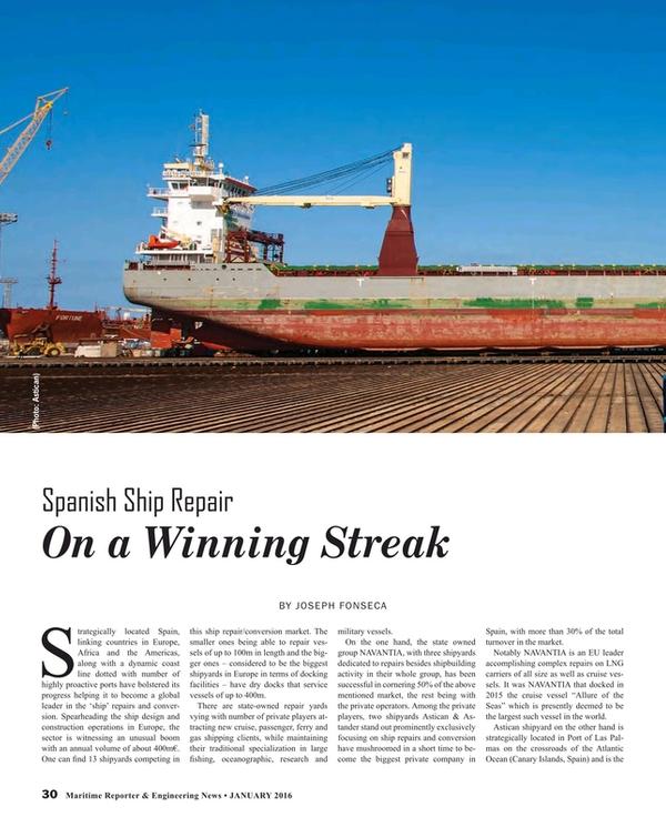 Maritime Reporter Magazine, page 30,  Jan 2016