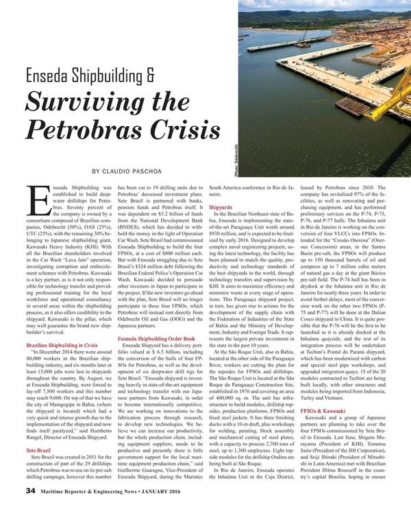 Maritime Reporter Magazine, page 34,  Jan 2016