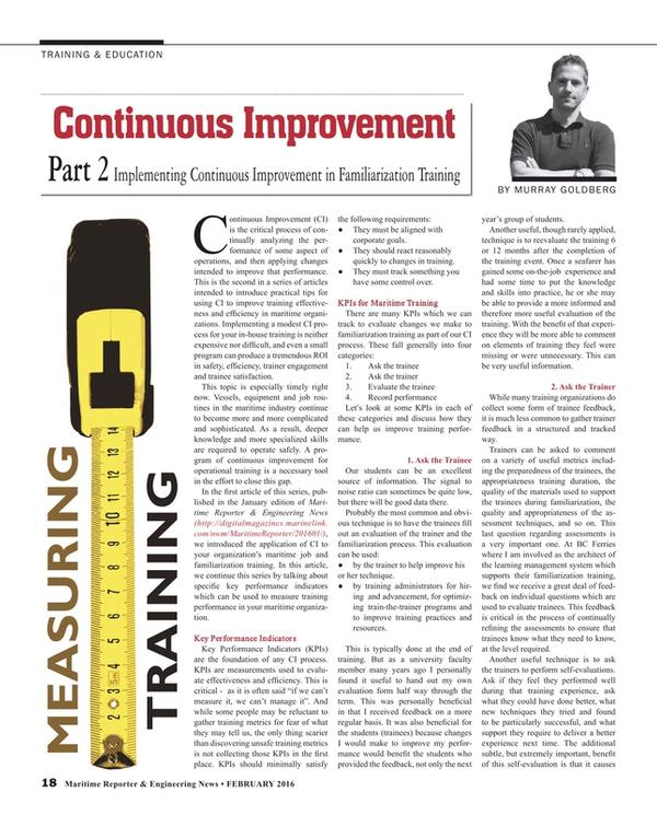 Maritime Reporter Magazine, page 18,  Feb 2016
