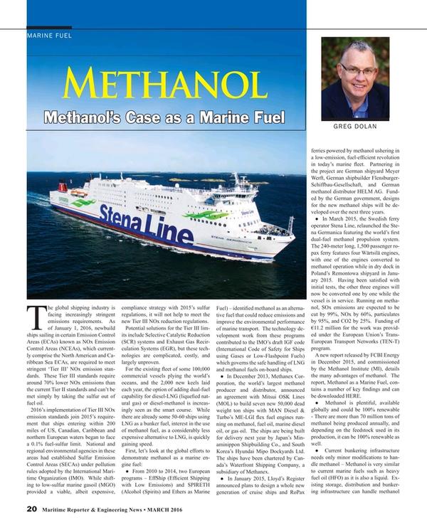 Maritime Reporter Magazine, page 20,  Mar 2016
