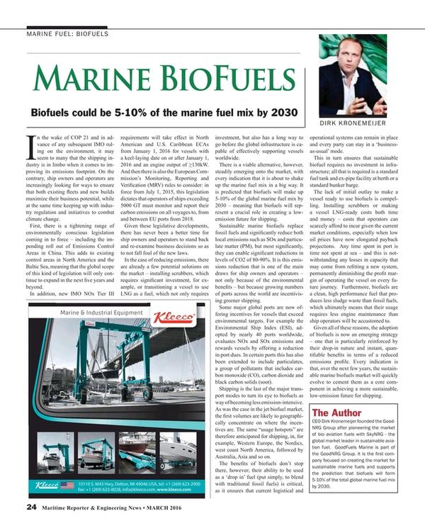 Maritime Reporter Magazine, page 24,  Mar 2016