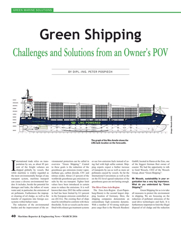 Maritime Reporter Magazine, page 40,  Mar 2016