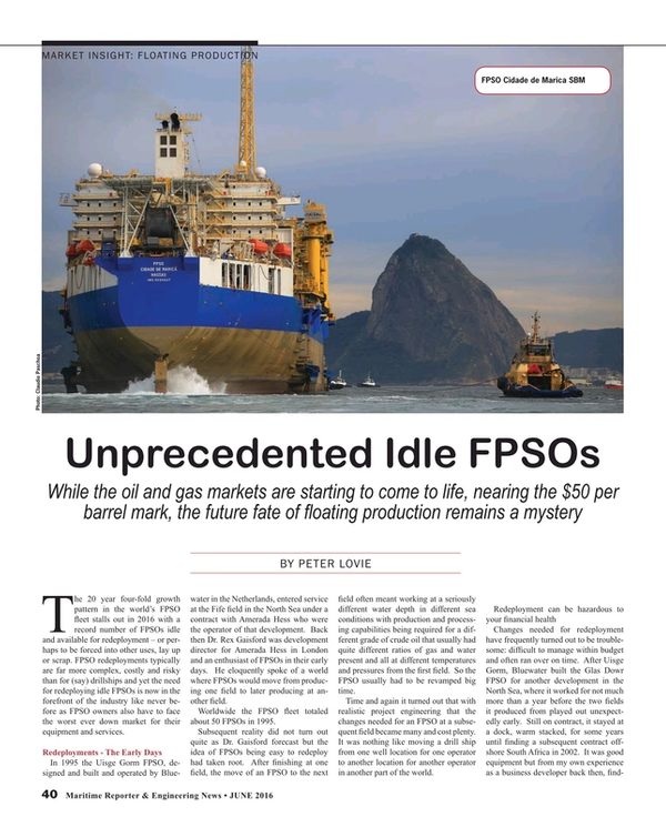 Maritime Reporter Magazine, page 40,  Jun 2016