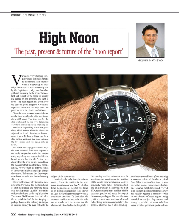 Maritime Reporter Magazine, page 22,  Aug 2016