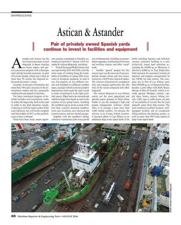 Maritime Reporter Magazine, page 60,  Aug 2016