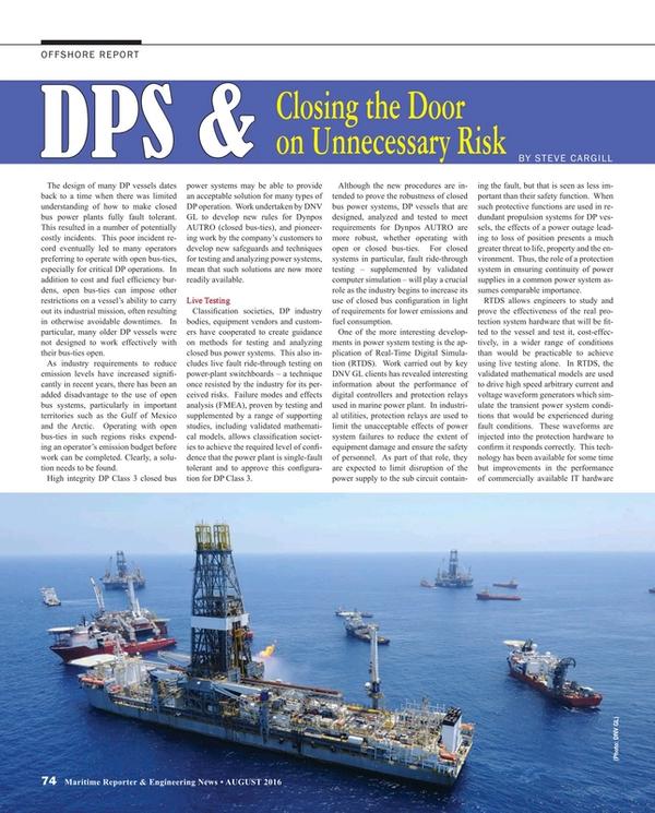 Maritime Reporter Magazine, page 74,  Aug 2016