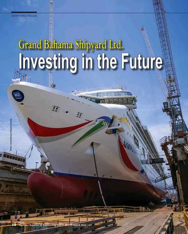 Maritime Reporter Magazine, page 18,  Sep 2016