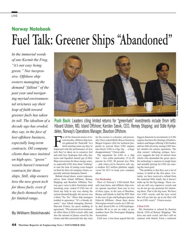 Maritime Reporter Magazine, page 44,  Nov 2016