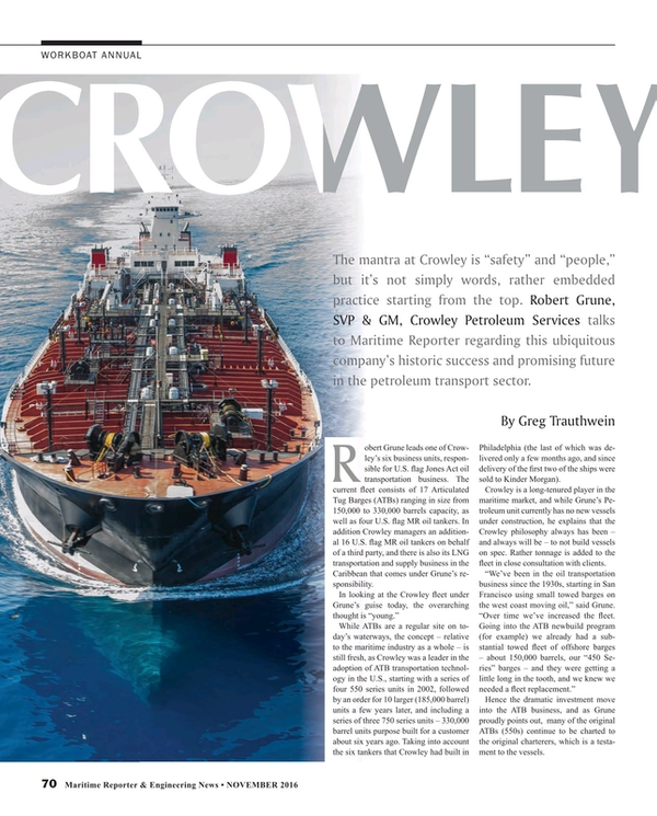 Maritime Reporter Magazine, page 70,  Nov 2016
