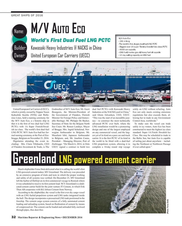Maritime Reporter Magazine, page 32,  Dec 2016