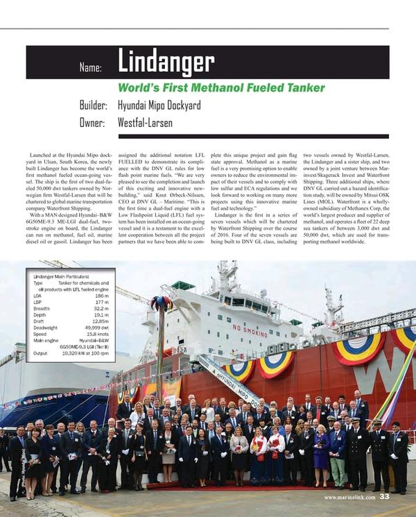 Maritime Reporter Magazine, page 33,  Dec 2016