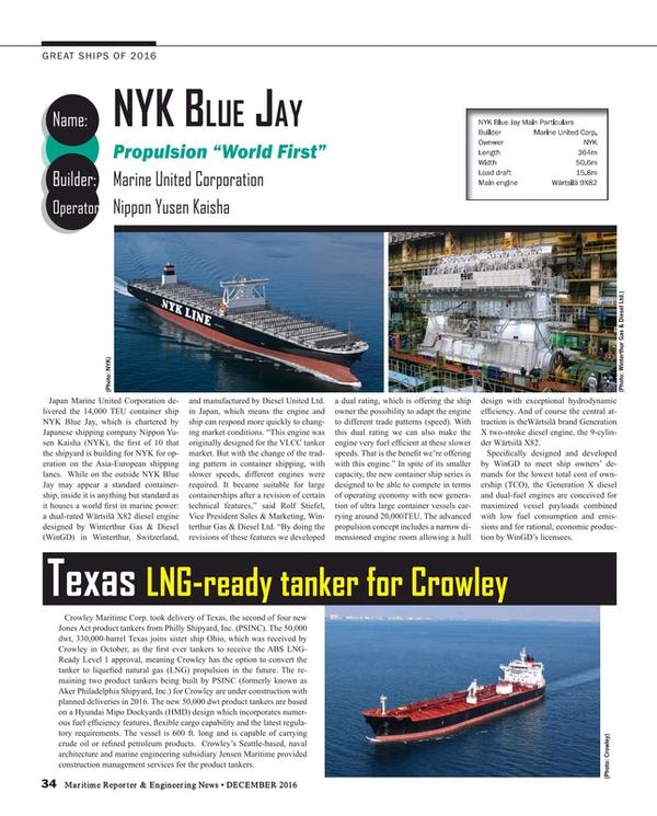 Maritime Reporter Magazine, page 34,  Dec 2016
