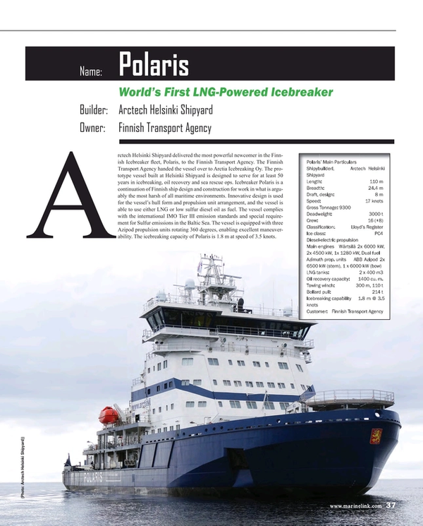 Maritime Reporter Magazine, page 37,  Dec 2016