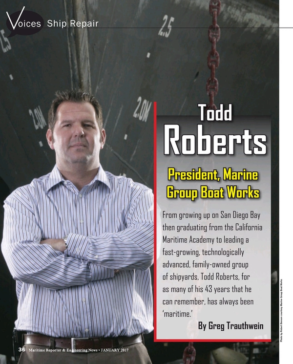 Maritime Reporter Magazine, page 36,  Jan 2017