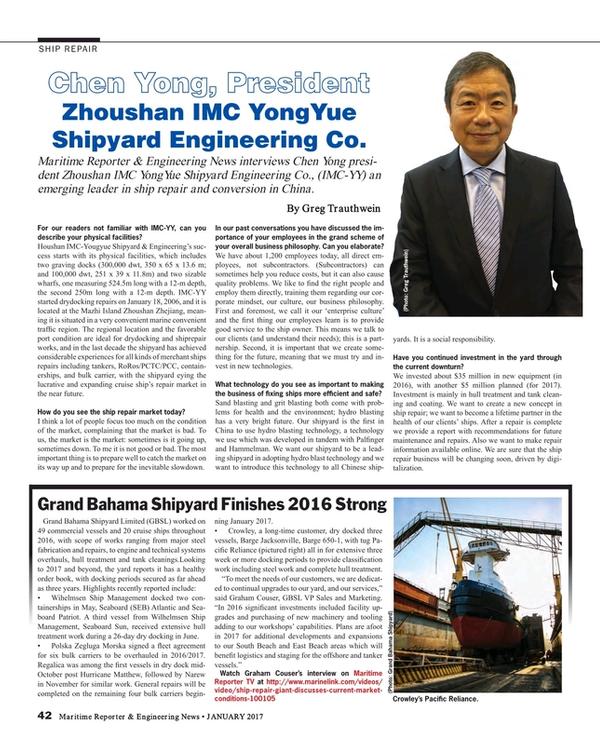 Maritime Reporter Magazine, page 42,  Jan 2017