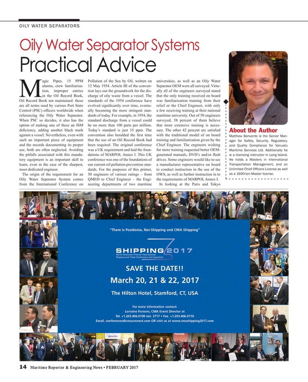 Maritime Reporter Magazine, page 14,  Feb 2017