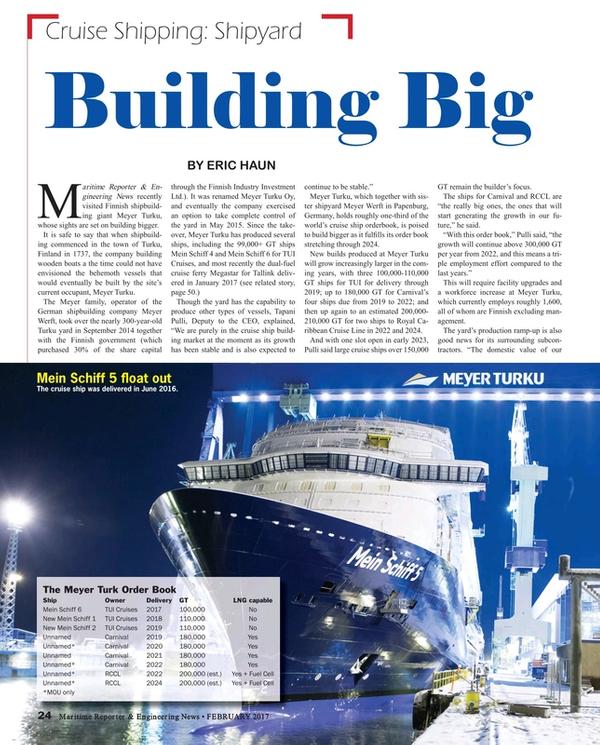 Maritime Reporter Magazine, page 24,  Feb 2017