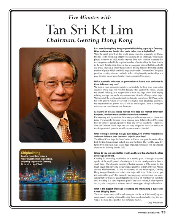 Maritime Reporter Magazine, page 33,  Feb 2017