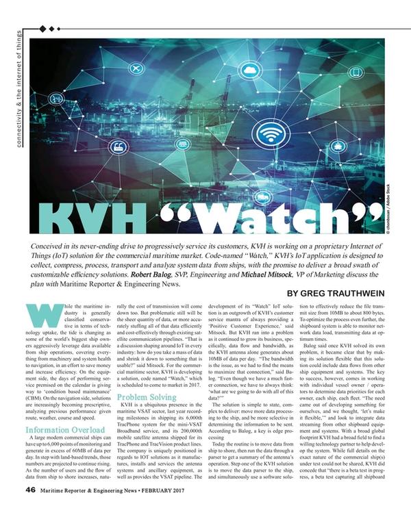 Maritime Reporter Magazine, page 46,  Feb 2017