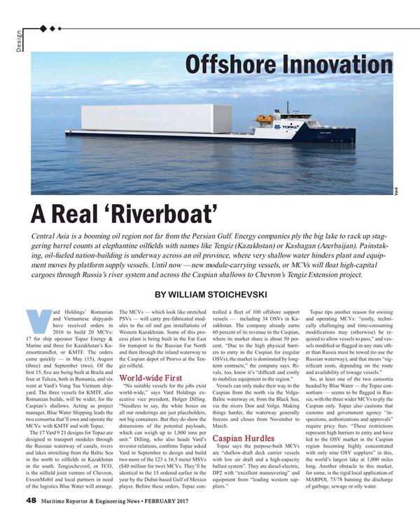 Maritime Reporter Magazine, page 48,  Feb 2017