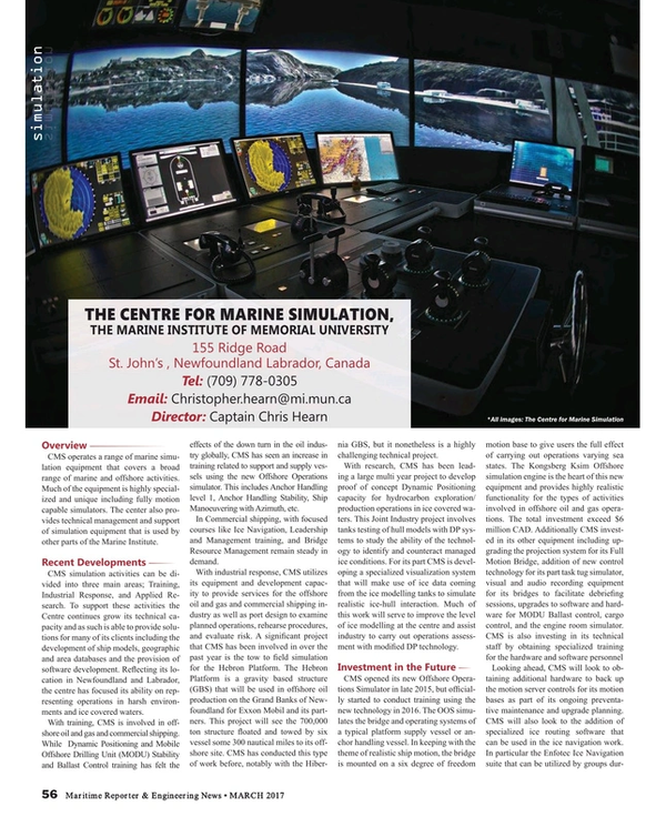 Maritime Reporter Magazine, page 56,  Mar 2017