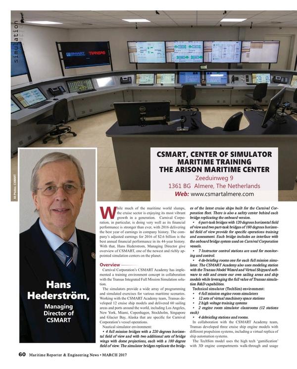 Maritime Reporter Magazine, page 60,  Mar 2017