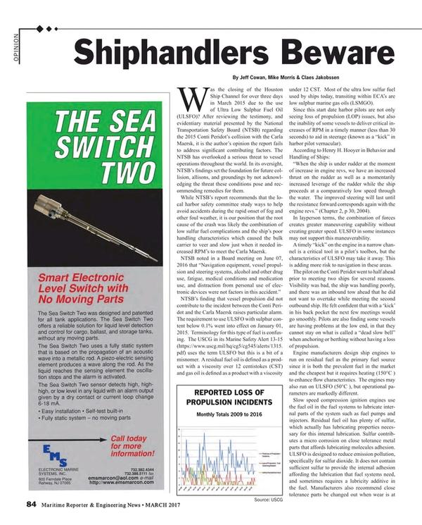 Maritime Reporter Magazine, page 84,  Mar 2017