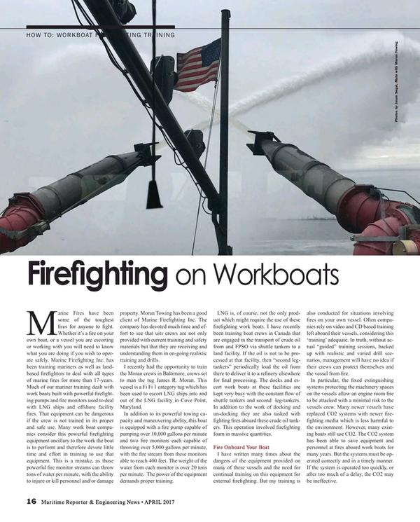 Maritime Reporter Magazine, page 16,  Apr 2017