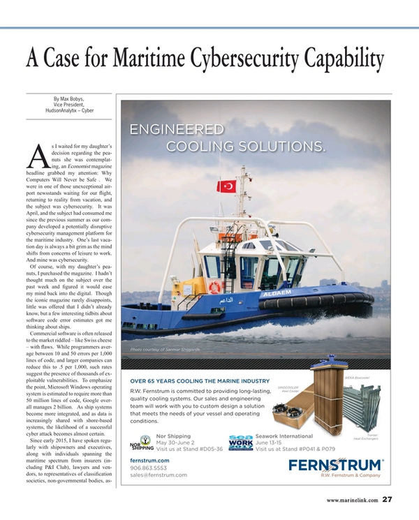 Maritime Reporter Magazine, page 27,  May 2017