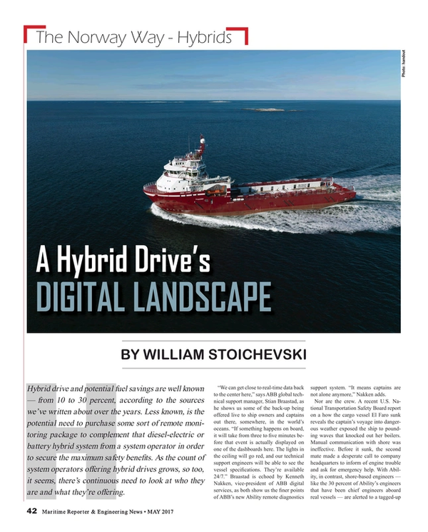 Maritime Reporter Magazine, page 42,  May 2017