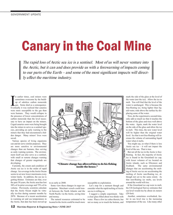 Maritime Reporter Magazine, page 12,  Jun 2017