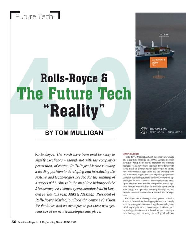 Maritime Reporter Magazine, page 56,  Jun 2017