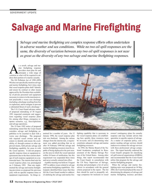 Maritime Reporter Magazine, page 12,  Jul 2017