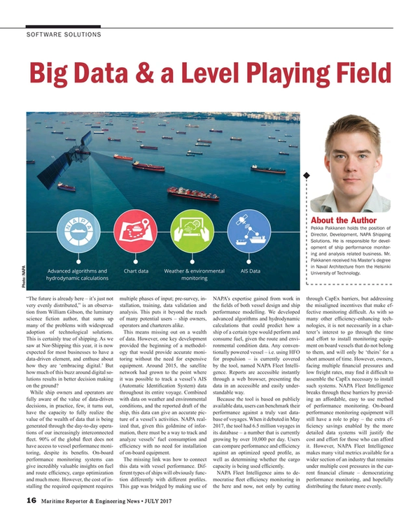 Maritime Reporter Magazine, page 16,  Jul 2017