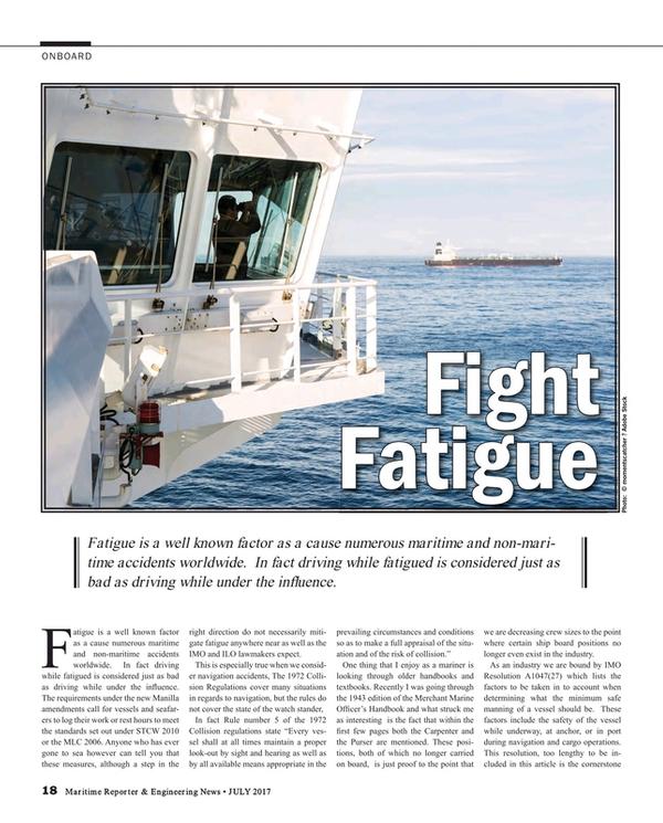 Maritime Reporter Magazine, page 18,  Jul 2017