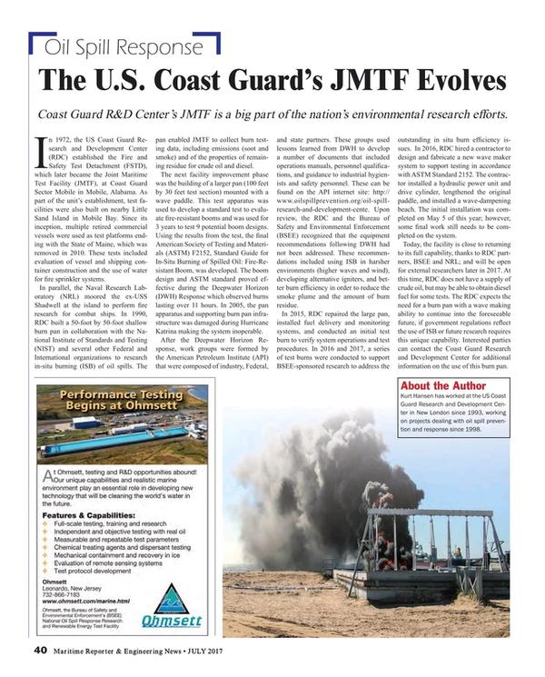 Maritime Reporter Magazine, page 40,  Jul 2017