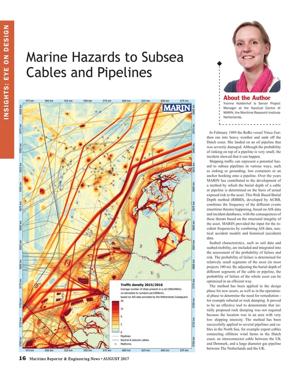 Maritime Reporter Magazine, page 16,  Aug 2017