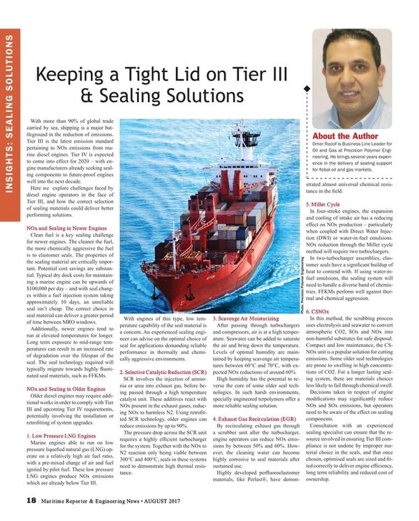Maritime Reporter Magazine, page 18,  Aug 2017