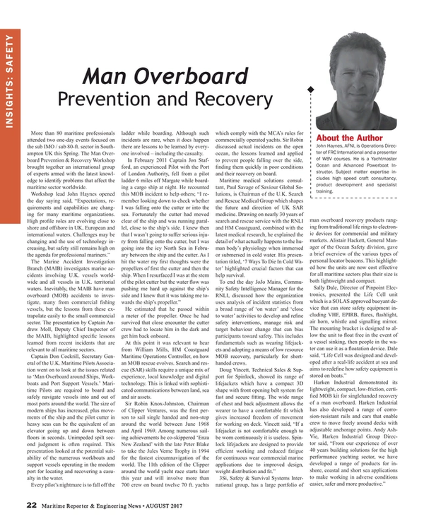 Maritime Reporter Magazine, page 22,  Aug 2017