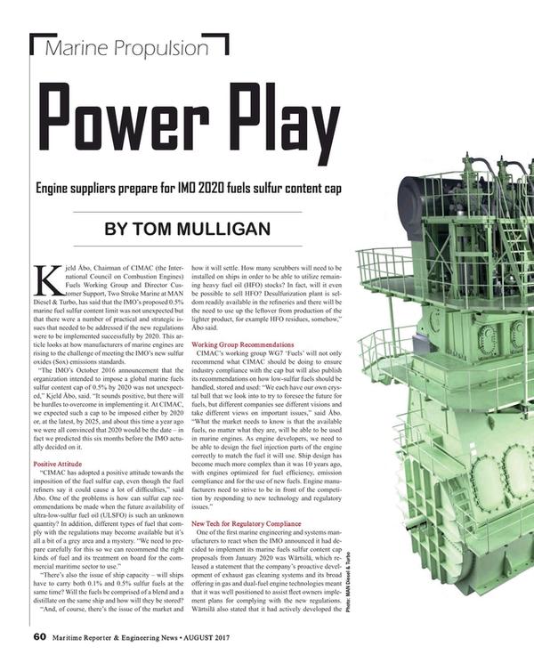 Maritime Reporter Magazine, page 60,  Aug 2017