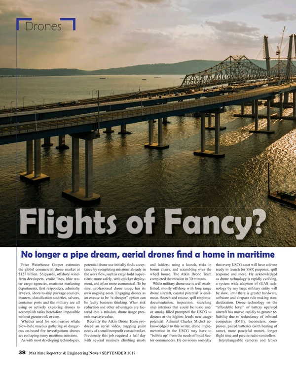 Maritime Reporter Magazine, page 38,  Sep 2017
